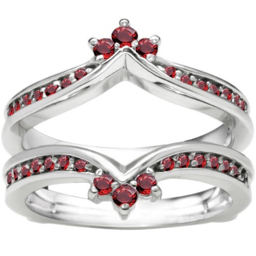 genuine prong set ruby crown inspired sterling silver
